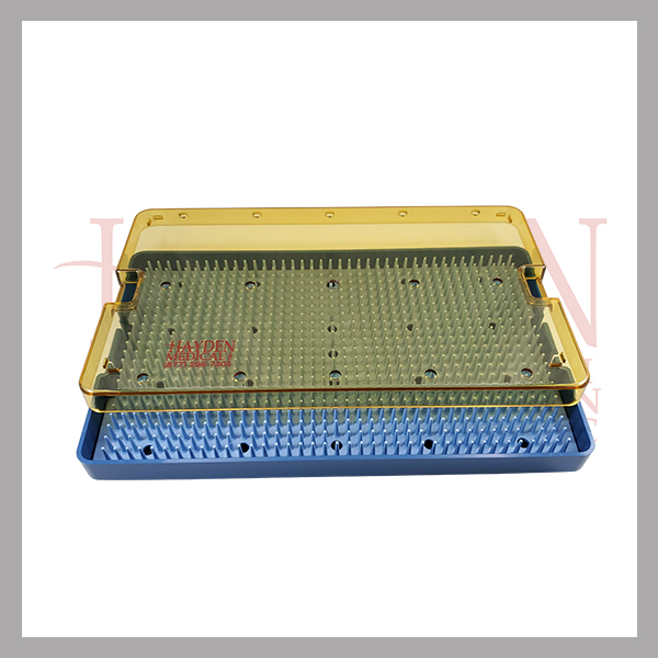030-107-Micro-Sterilization-Tray-w-silicone-finger-mat-6-x-10-x-34-autoclavable-plastic