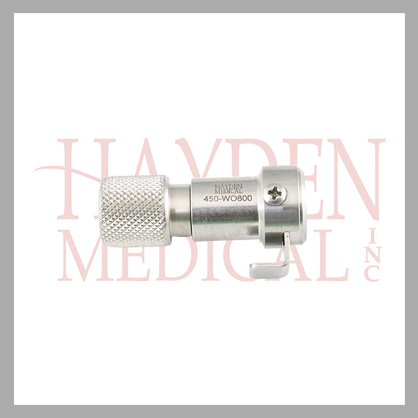 450-WO800-WolfDyonicsWeckLinvatec-Connector-Instrument-End-for-Light-Cable-Clip-Style