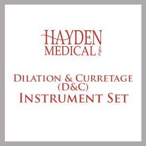 Dilation & Curretage (D&C) Instrument Set