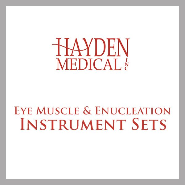 Eye Muscle & Enucleation Instrument Set