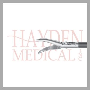 HE13-1318 Maryland Laparoscopic Dissector, 20mm long slightly curved tapered serrated jaws