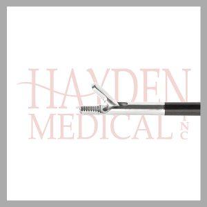 HE13-1347 Laparoscopic Needleholder 5mm, cross serrated 10mm long jaws