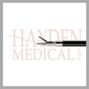 HE13-1348 Laparoscopic Needleholder 5mm, cross serrated 3mm wide jaws