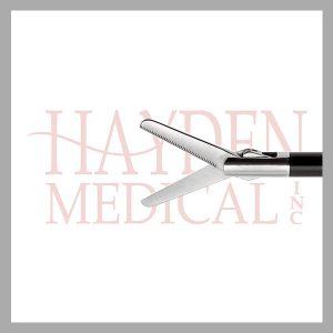 HE13-1465 Laparoscopic Metzenbaum Scissors 5mm, D/A 20mm long straight serrated blades