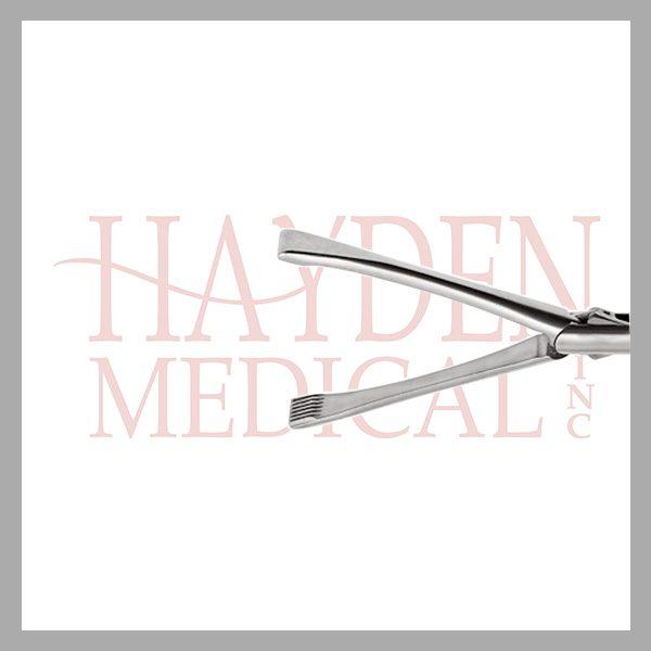 HE13-1510 Allis Laparoscopic Grasper 10mm, D/A with fine axial serrations 40mm long jaws