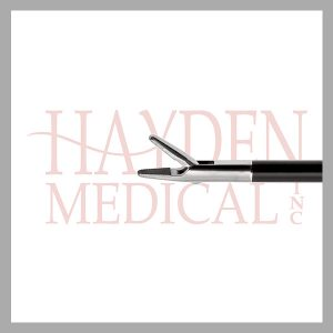 HE13-1595 Laparoscopic Needle Holder 5mm, S/A 8mm long pointed jaws