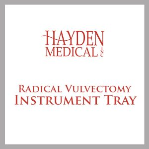 Radical Vulvectomy Instrument Tray