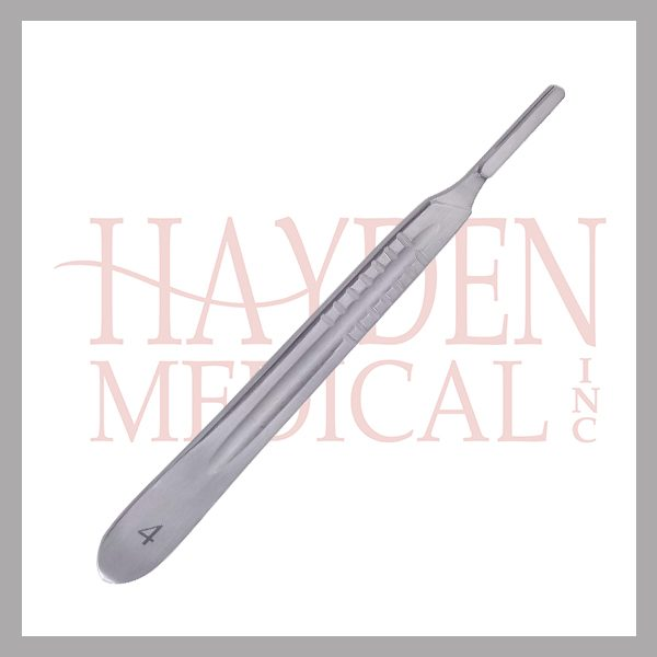 """040-408 Scalpel Handle #4 - for blade sizes #20-25, Extra Fine 5-1/4"""" (13.1cm)"""