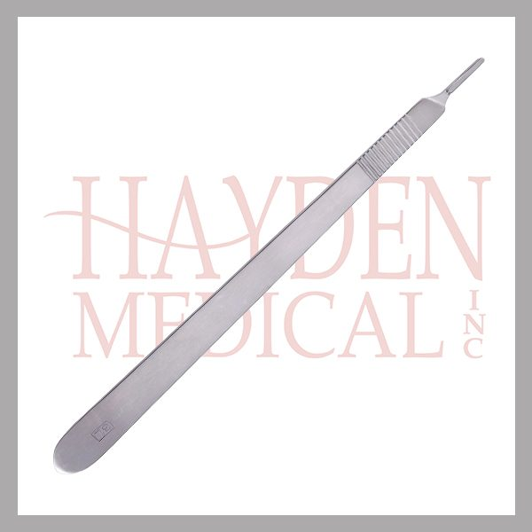 """Scalpel Handle #3 Long - for blade sizes #10-15, Extra Fine 8"""" (20cm)"""