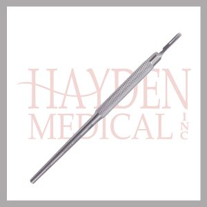"Scalpel Handle #3 - Round Handle ""Siegal style"", fits blade sizes #10 thru 15, 6"" (15cm)"