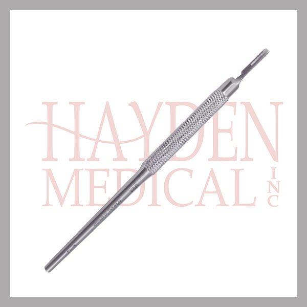 """Scalpel Handle #3 - Round Handle """"Siegal style"""", fits blade sizes #10 thru 15, 6"""" (15cm)"""
