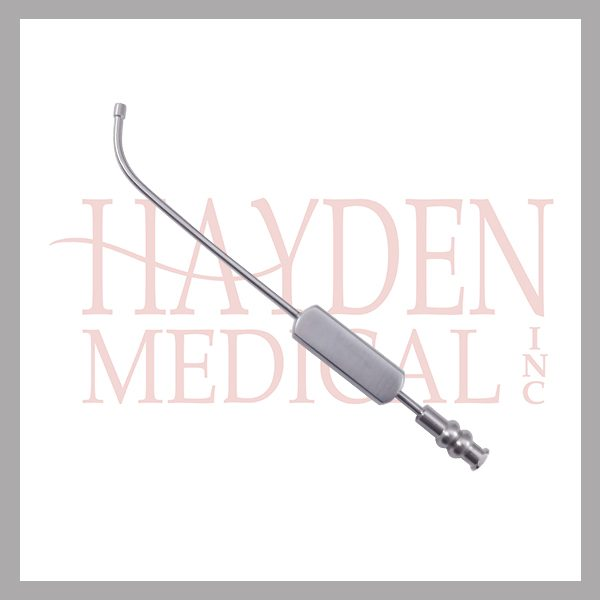 "Sinus Suction Tube 5-3/4"" (14.4cm) with bulbous tip, long curve, 2.5mm outer diameter"