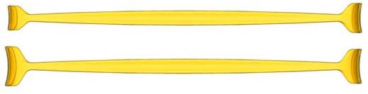 Double Ended Desmarres Lid Retractor (Transparent Yellow)