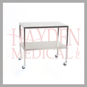 Stainless Steel Instrument Table & Back Table with Shelf hcm501