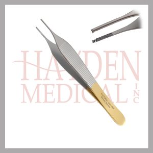 540-139F-Adson-Tissue-Forceps-4-34-11.9cm-1x2-teeth-w-serrated-tying-platform-micro-tip-straight-tungsten-carbide-jaws