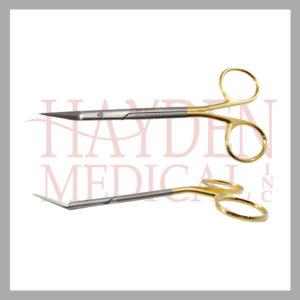 Giunta Nasal Scissors, angled upwards, 5-1_4'' (13.5cm), angled shanks, TC Super-Cut 500-475