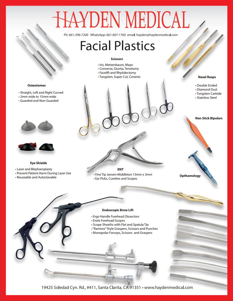 Facial Plastic Surgery Instrument Brochure