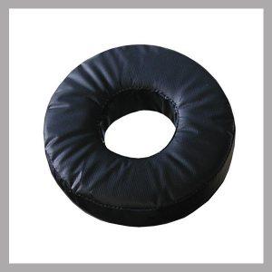 """i-DV20 Donut - Adult Head Donut 9""""od x 4""""id x 2""""H, Black Vinyl"""