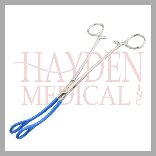 L140-610-Foerster-Sponge-Ring-Forceps-9-12-23.8cm-serrated-jaws-curved-NON-CONDUCTIVE
